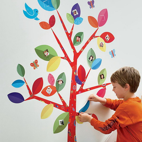 Family tree wall stickers