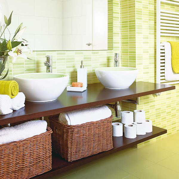 4 Ways to Use Bathroom Baskets  Better Homes amp Gardens
