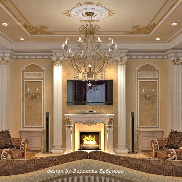 Decor around fireplace